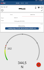 screenshot of Force Meter App version 1.1.6