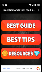 screenshot of Free Diamonds for Free Fire -Tips version 1.0