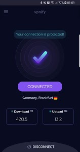screenshot of Free VPN unlimited secure hotspot proxy by vpnify version 1.1.2