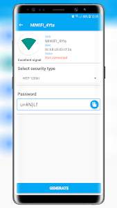 screenshot of Free Wifi Password Key Generator version v1.0.2.1