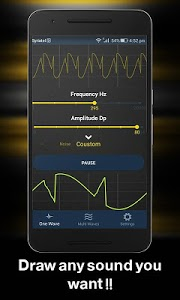 screenshot of Frequency Sound Generator advance version 2.0.2