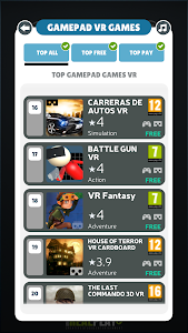 screenshot of Gamepad Games Links version 2.5
