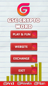 screenshot of GSC Crypto Word version 1.0
