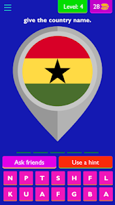 screenshot of GUESS THE COUNTRY version 4.2.0z