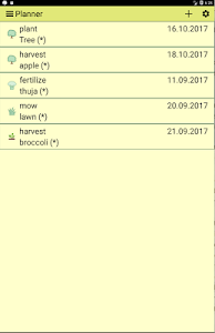 screenshot of Gardener's Agenda Lite version 16.1
