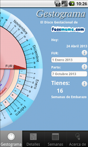 screenshot of Old Pregnancy Gestogram version 1.1.7