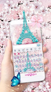 screenshot of Girly Paris Keyboard - Girly theme version 10.0