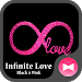 Glitter Wallpaper Infinite Love Black x Pink Theme