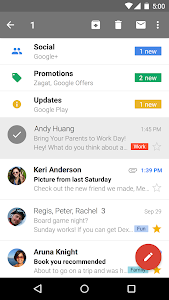 screenshot of Gmail version Varies with device