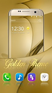 screenshot of Gold Theme for Galaxy S8 Plus version 1.1.7