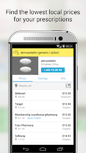 screenshot of GoodRx Drug Prices and Coupons version 4.0.3