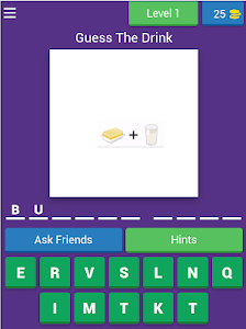 screenshot of Guess The Drink By Emoji version 3.1.8z