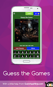 screenshot of Guess the Games version 4.1.0z