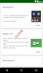 screenshot of Guide & Tips Xender file transfer and share version 1.1