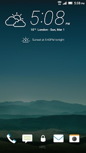 screenshot of HTC Lock Screen version Varies with device