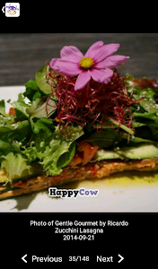 screenshot of HappyCow Find Vegan Food FREE version 61.1.3-free-v2