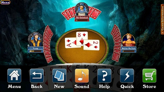 screenshot of Hardwood Spades Free version Varies with device