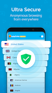 screenshot of Hola VPN Proxy Plus version ARM7A_1.140.390