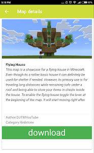 screenshot of House maps for Minecraft PE version 1.0.42