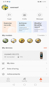 screenshot of Huawei Health version 9.0.4.397
