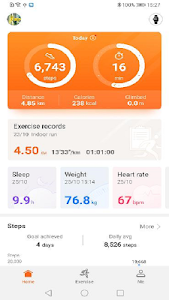 screenshot of Huawei Health version 9.0.6.438