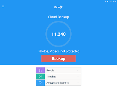 screenshot of IDrive Online Backup version 4.2.7