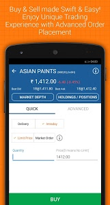 screenshot of IIFL Markets - NSE BSE Mobile Stock Trading version 5.0.3.0
