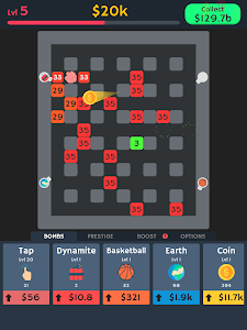 screenshot of Idle Bomber - Idle & Clicker Bomber Game version 0.9.0