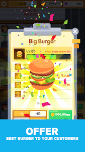 screenshot of Idle Burger Factory - Tycoon Empire Game version 1.0.8