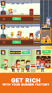 screenshot of Idle Burger Factory - Tycoon Empire Game version 1.0.9