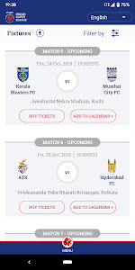 screenshot of Indian Super League - Official App version 8.4