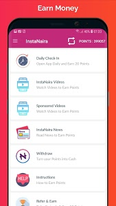 screenshot of InstaNaira - Get Free Airtime and Cash in Nigeria version 1.4