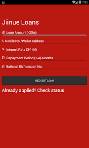 screenshot of Jiinue Mpesa Loans version 1.4