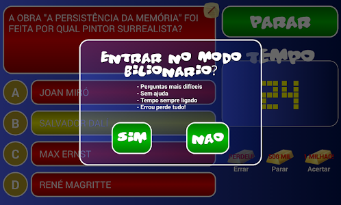 screenshot of Jogo do Bilhão 2016 version 2.1.6