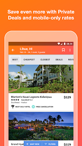 screenshot of KAYAK Flights, Hotels & Cars version 54.0