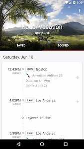 screenshot of KAYAK Flights, Hotels & Cars version 29.4