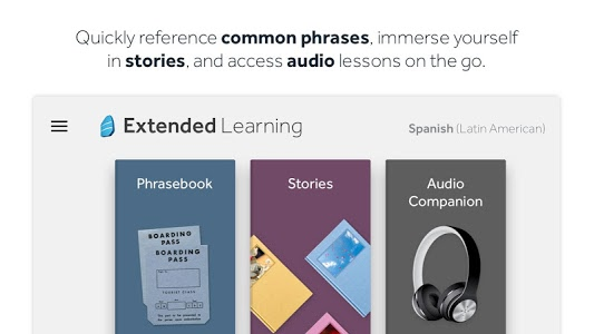screenshot of Rosetta Stone: Learn Languages version 5.15.1