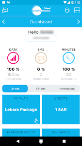 screenshot of Lebara KSA version 1.9.3