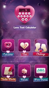 screenshot of Love Test Calculator version 1.1.29