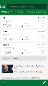 screenshot of MSN Money- Stock Quotes & News version 1.2.1