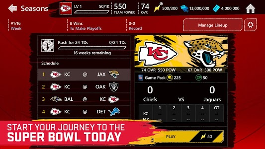 screenshot of Madden NFL Mobile Football version 6.3.3