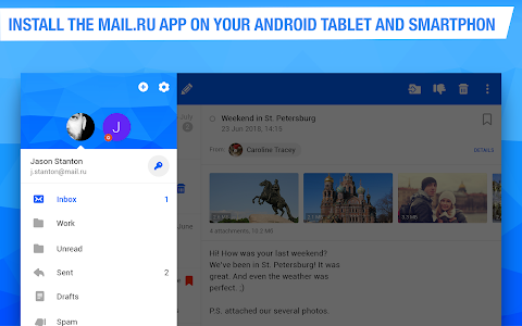 screenshot of Mail.ru - Email App version Varies with device