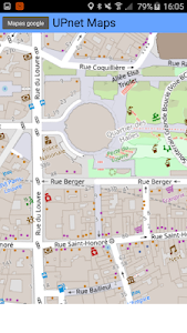 screenshot of Maps version Varies with device