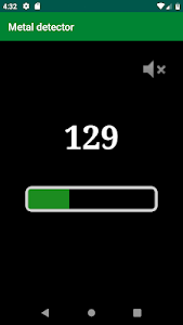 screenshot of Metal detector version 1.7