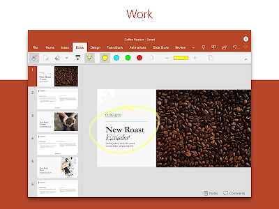 screenshot of Microsoft PowerPoint: Slideshows and Presentations version 16.0.12325.20174