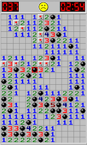 screenshot of Minesweeper version 1.5.1
