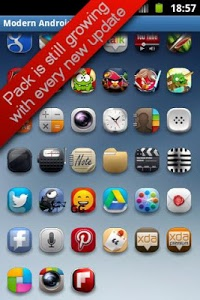 screenshot of Modern Android icon pack version 2.0