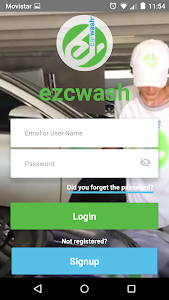 screenshot of My Ez CarWash App version 2.13