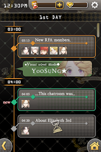 screenshot of Mystic Messenger version 1.2.3