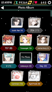 screenshot of Mystic Messenger version 1.13.2